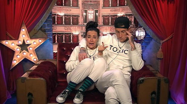 CBB day 23 - Steph and Jeremy in the Diary Room. 28 January 2016.