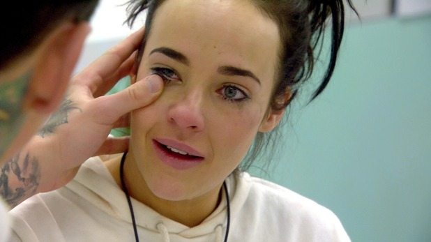 CBB day 23 - Steph in tears in the toxic room. 28 January 2016.