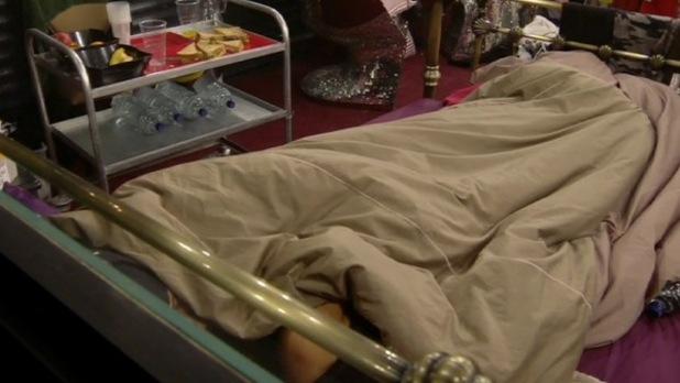 CBB - day 21: Stephanie Davis, Jeremy McConnell in bed.