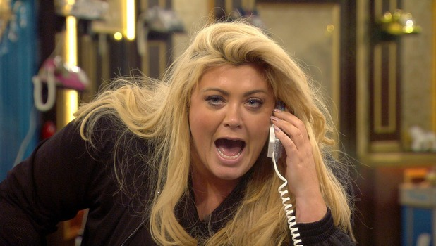 Gemma Collins. Day 24 in the CBB house. 29 January 2015.