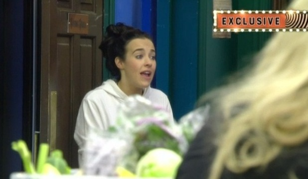 CBB: Stephanie Davis argues over razor. 27 January 2016.
