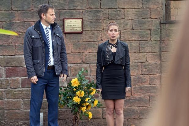 Hollyoaks, Maxine at Patrick's memorial, Thu 28 Jan