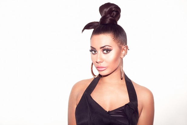 Geordie Shore star Chloe Ferry poses in campaign images for Lauren Pope's hair extensions label, Hair Rehab London, 26th January 2016