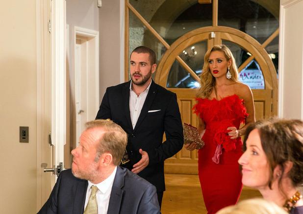 Corrie, Aidan and Eva go to a dinner party, Mon 1 Feb