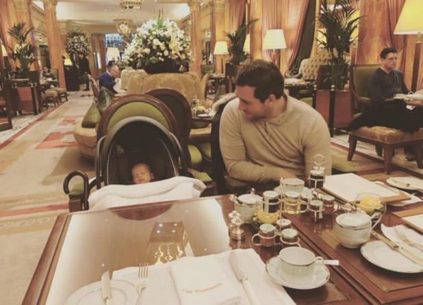 Sam Faiers' Instagram of boyfriend Paul and baby boy 24 January