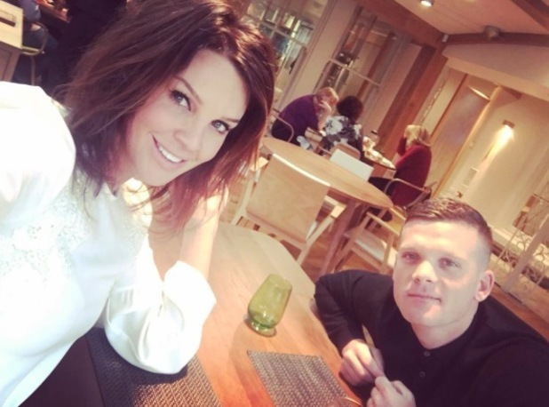 Danielle Lloyd poses for picture with boyfriend Michael O'Neill, 25th January 2016