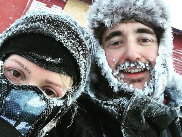 Ellie Goulding and friend Conor McDonell during trip to Norway January 2016