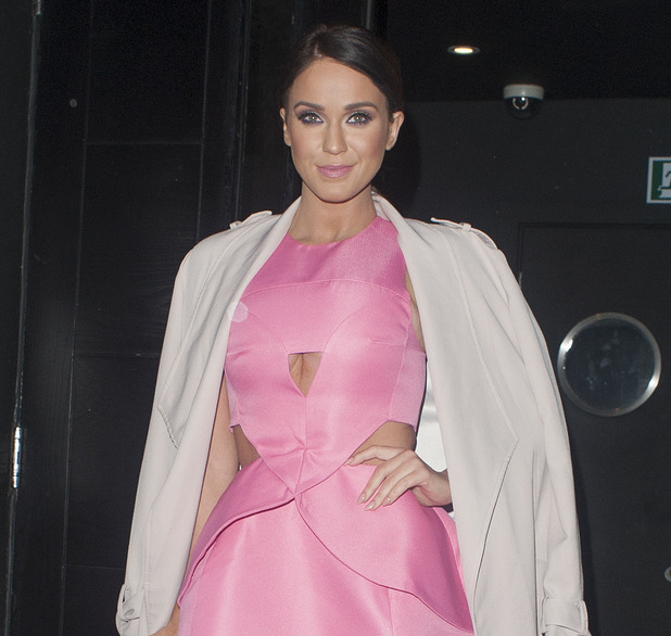Vicky Pattison arrives at Vanilla to launch her new on demand fitness and lifestyle plan 'Mini V Nutrition' in London, 27th January 2016