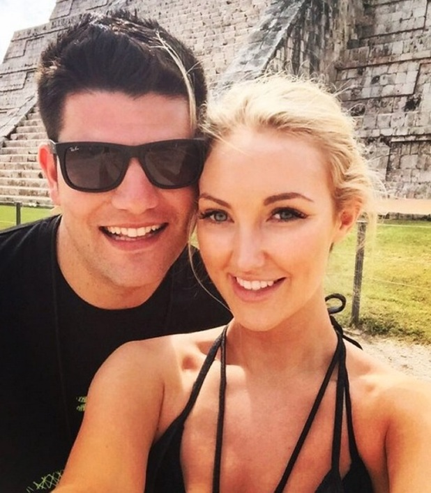 Former Apprentice winners Leah Totton and Mark Wright on holiday, January 2016