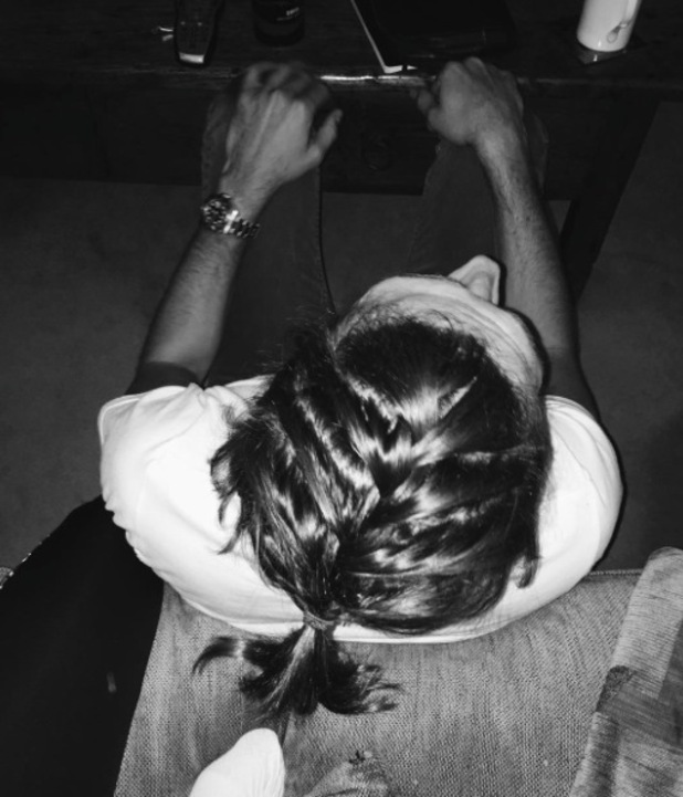 TOWIE's Jake Hall posts picture of his man braid to Instagram 28th January 2016