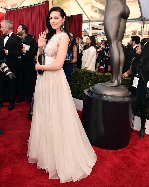 Laura Prepon attends the 22nd Annual Screen Actors Guild Awards at The Shrine Auditorium on January 30, 2016 in Los Angeles, California