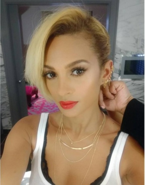 Alesha Dixon fakes a super-shot crop for filming Britain's Got Talent in London, by braiding her bob, by Michelle Sultan, 26 January 2016