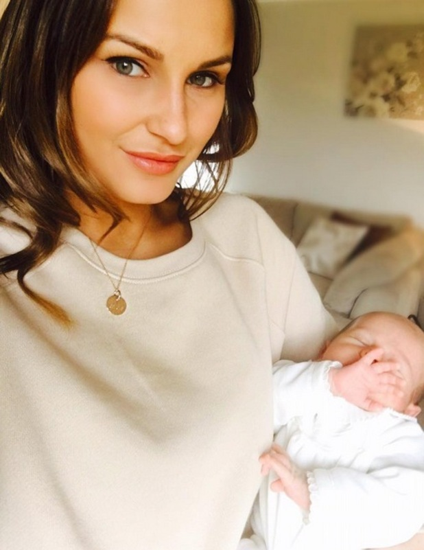 Sam Faiers shares photo with newborn son Paul,  25th January 2016