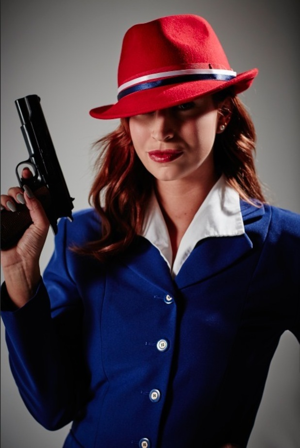 Ferne McCann transforms from TOWIE to 1940's Hollywood star for Marvel's Agent Carter on FOX, January 2016