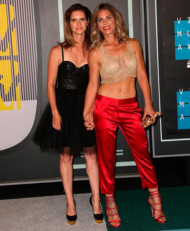 2015 MTV Video Music Awards (VMA's) at the Microsoft Theater - Arrivals Jillian Michaels and Heidi Rhoades