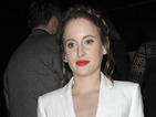 MIC's Rosie Fortescue is oh-so-sharp in all white two-piece!