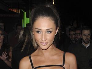 Megan McKenna (Celebrity Big Brother) enjoys night out in London at Cafe De Paris, 1st February 2016