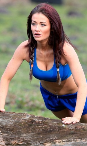 Jess Impiazzi works out with personal trainer 2 February