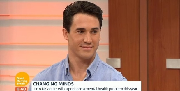 Josh JP Patterson talks about battle with depression on Good Morning Britain, ITV 5 February