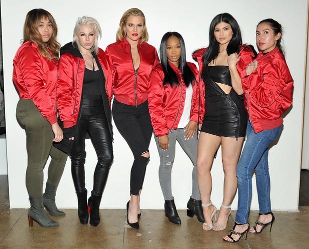 Kylie Jenner, Jen Atkin, Malika Huqq, Khloe Kardashian, Joyce Bonelli and Jasmine Sanders attend the attend the FORWARD by Elyse Walker event in Los Angeles, 4th February 2016