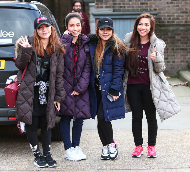 4th Impact arrive in London for the 2016 X Factor Tour rehearsals, 1st February 2016