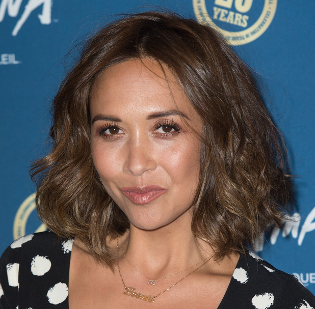 Myleene Klass, premiere of Cirque du Soleil's Amaluna at the Royal Albert Hall in London, 19 January 2016