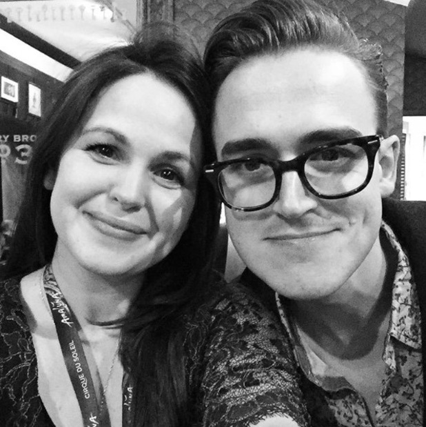 Tom and Giovanna Fletcher watch Cirque at the Royal Albert Hall - January 2016