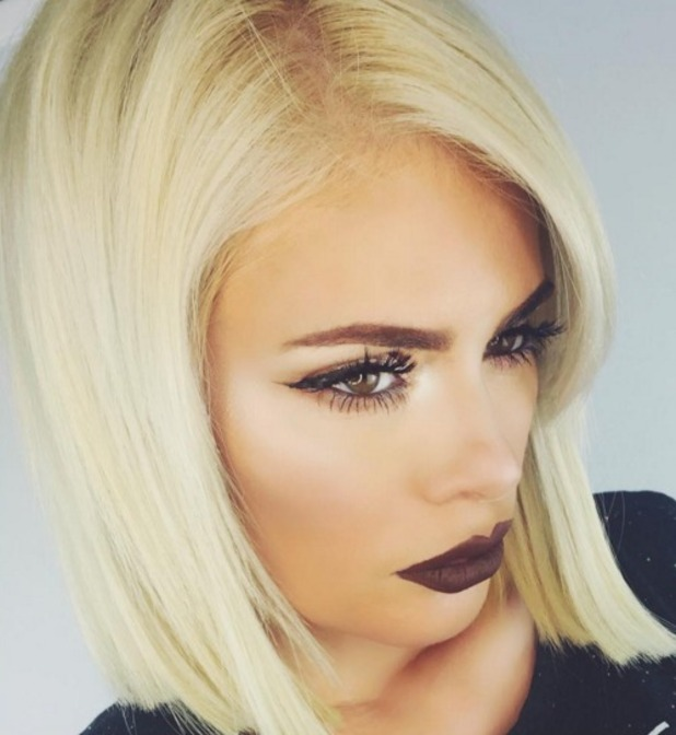 Chloe Sims does a Kylie Jenner with dark chocolate lips tutorial, 2 February 2016