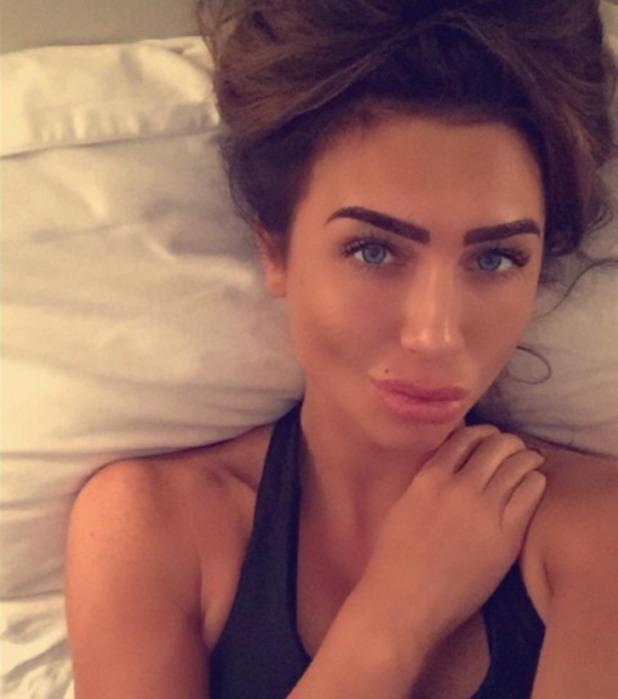 Lauren Goodger, Saturday night in, bedroom selfie, 19 December 2015