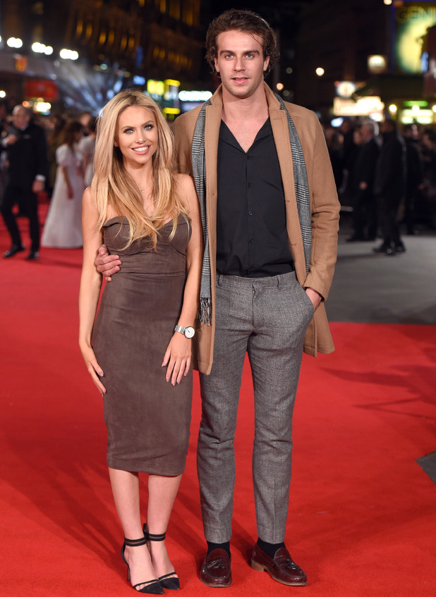 Max Morley and Naomi Ball attend the premiere of Pride and Prejudice and Zombies in London 1 February