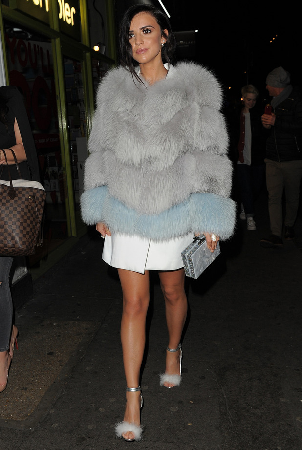 Former TOWIE star Lucy Mecklenburgh at the Instyle Rising Star Awards BAFTAs party in London, 4th February 2016
