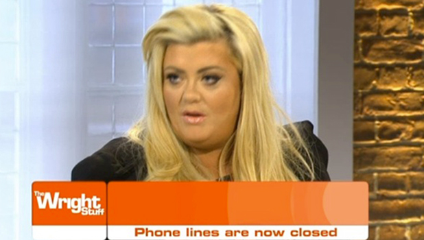 Gemma Collins on The Wright Stuff talking about Stephanie and Jeremy in CBB 4 February 2016