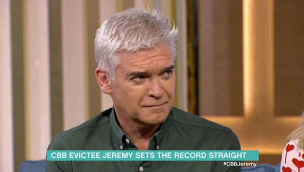 Jeremy McConnell appears on ITV's This Morning to be interviewed by Holly Willoughby and Phillip Schofield 1 February 2016