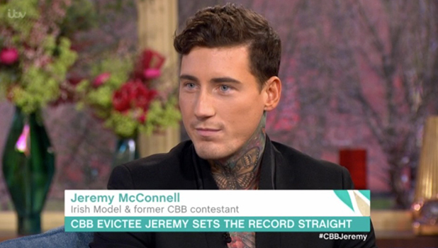 Jeremy McConnell appears on ITV's This Morning 1 February 2016