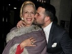 Ex-TOWIE star Ricky Rayment plants a kiss on I'm A Celebrity's Lady Colin Campbell!