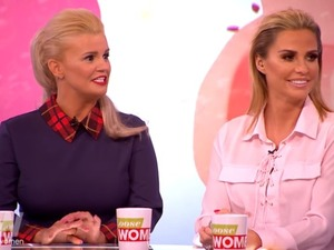 Kerry Katona looks shocked when Katie Price reveals on Loose Women she has a high sex drive!