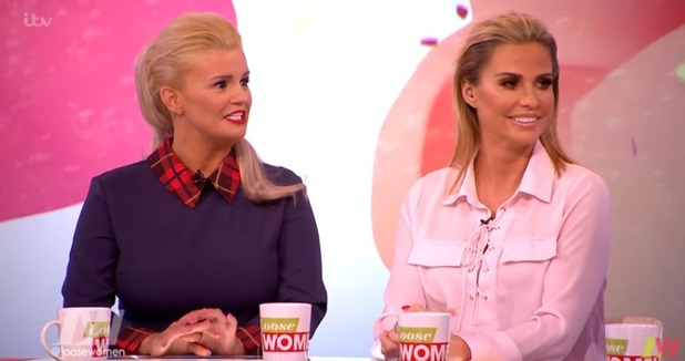Kerry Katona and Katie Price on ITV's Loose Women, 8 February 2016