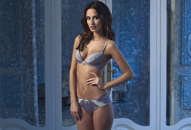 nMade In Chelsea's Lucy Watson strips down to bra and knickers for Boux Avenue shoot, wearing ABIGAIL set 11th February 2016