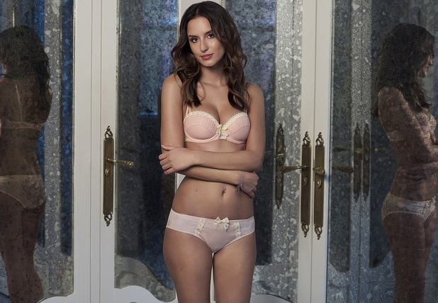 Made In Chelsea's Lucy Watson strips down to bra and knickers for Boux Avenue shoot, 11th February 2016