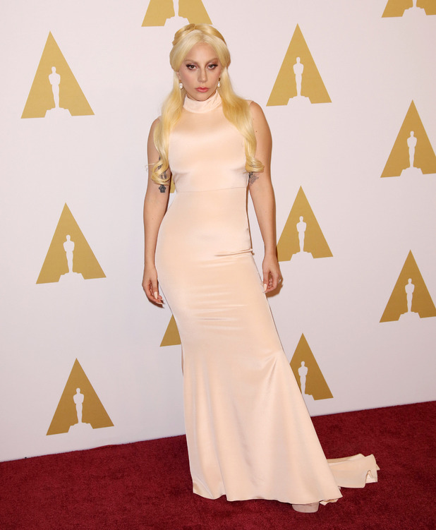 Lady Gaga attends the 88th Annual Academy Awards Luncheon in Los Angeles, 9th February 2016