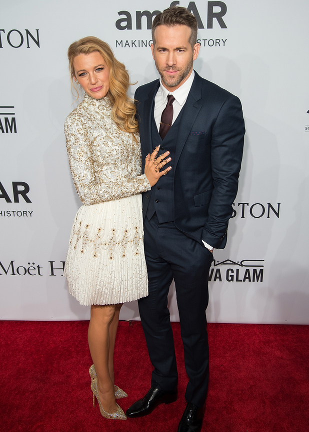 Blake Lively and Ryan Reynolds attend the 2016 amfAR New York Gala at Cipriani Wall Street 10 February