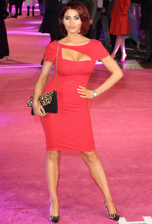Former TOWIE star Amy Childs attends the How To Be Single premiere in London, 10th February 2016