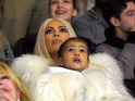 Kim Kardashian West and North West attend Kanye West Yeezy Season 3 at Madison Square Garden on February 11, 2016 in New York City. (Photo by Kevin Mazur/Getty Images for Yeezy Season 3)