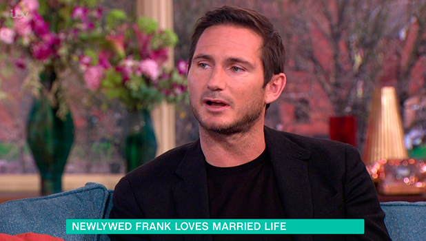 Frank Lampard promoting his new book, 'Team T. Rex', on 'This Morning', the 14th book in his 'Frankie's Magic Football' series. Broadcast on ITV1 HD.