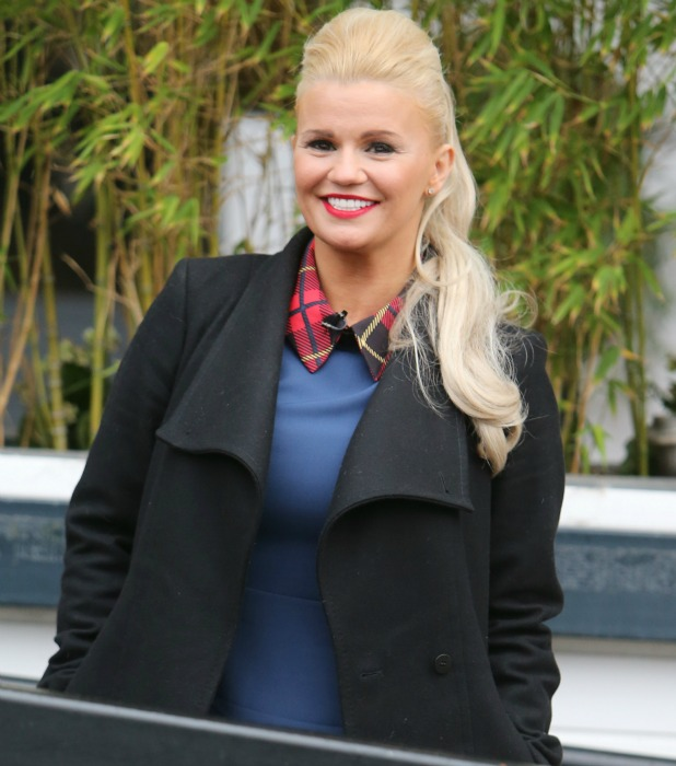 Kerry Katona outside ITV Studios 8 February 2016