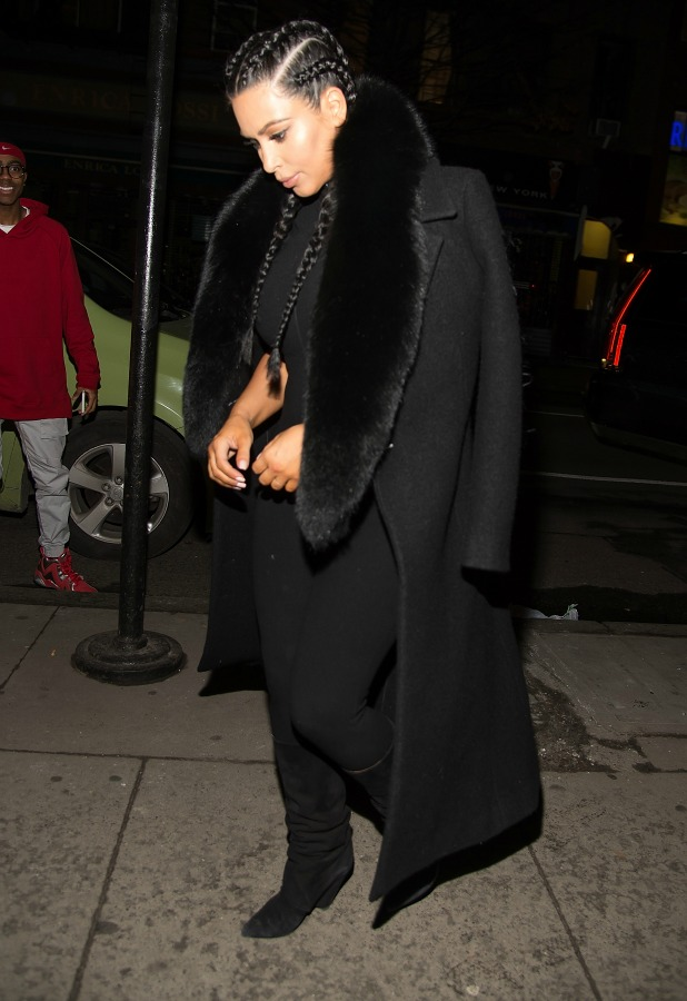 Kim Kardashian is seen on the streets of Manhattan on February 9, 2016 in New York City. (Photo by Michael Stewart/GC Images)