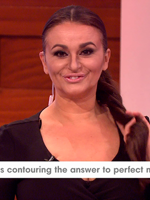 Nadia Sawalha channels her inner Kim Kardashian on Loose Women for contouring discussion 12 February 2016