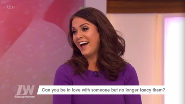 Vicky Pattison on Loose Women, ITV, 12 February 2015