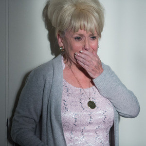 Barbara Windsor returns to EastEnders as Peggy Mitchell. 15 January 2016.