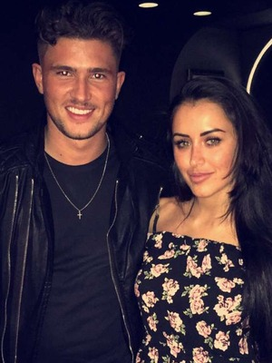 Jordan Davies and Marnie Simpson on Valentine's Day date. 14 February 2016.